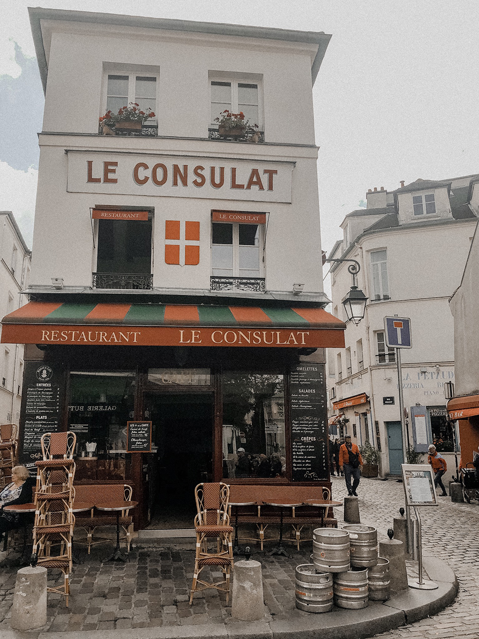 The famous restaurant le Consulat located in Paris, Montmartre