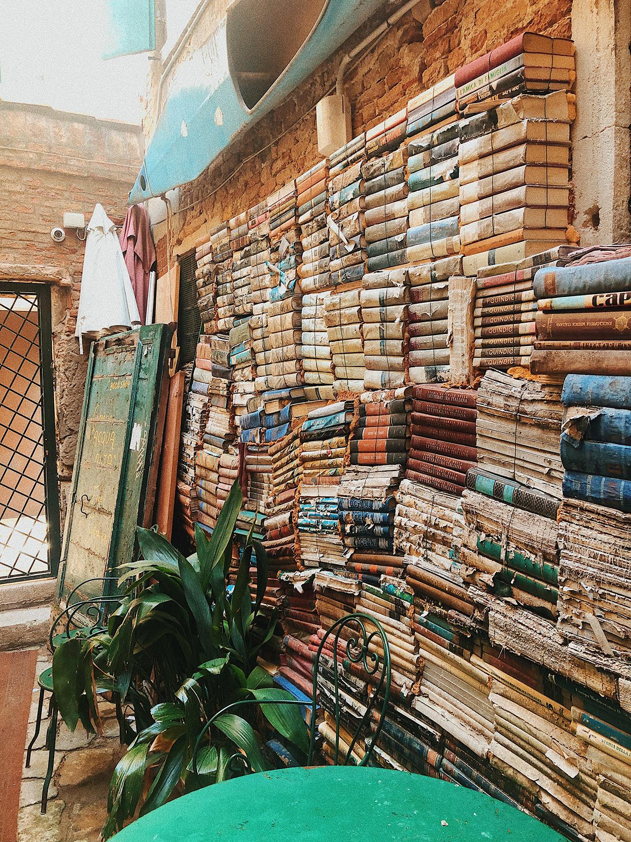 Libreria Alcqua Alta Venice Italy