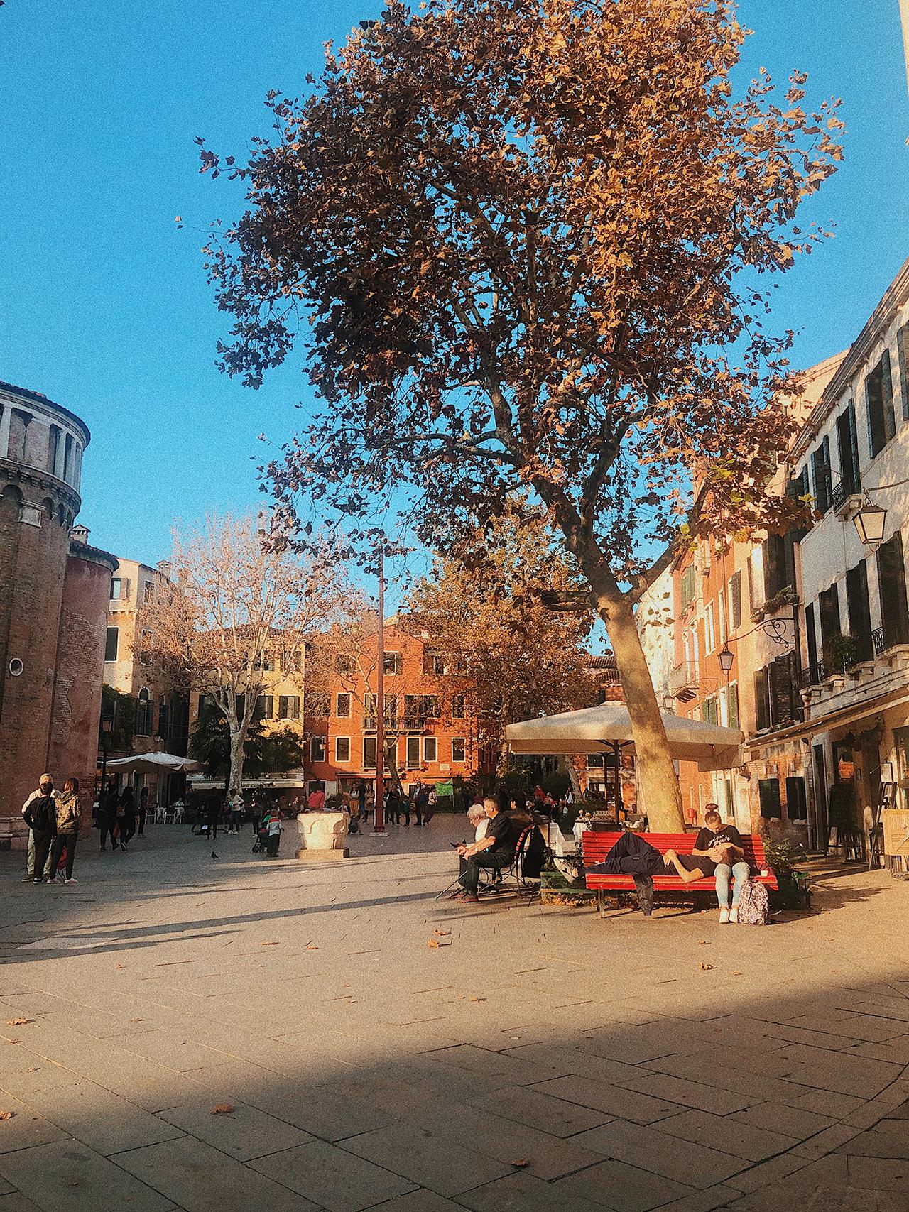 Public square Venice Italy