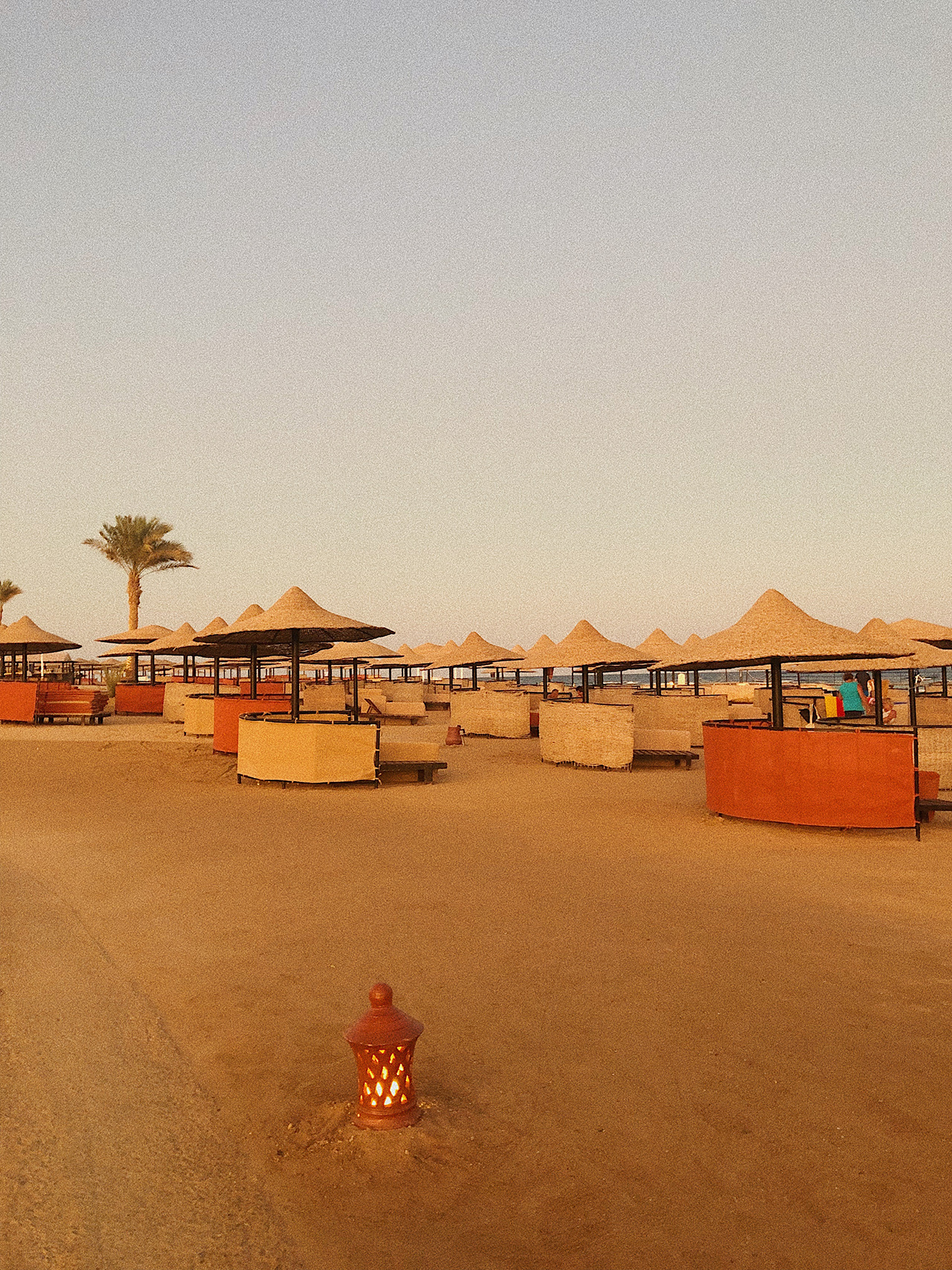 Sunset at beach Palace Port Ghalib, Marsa Alam