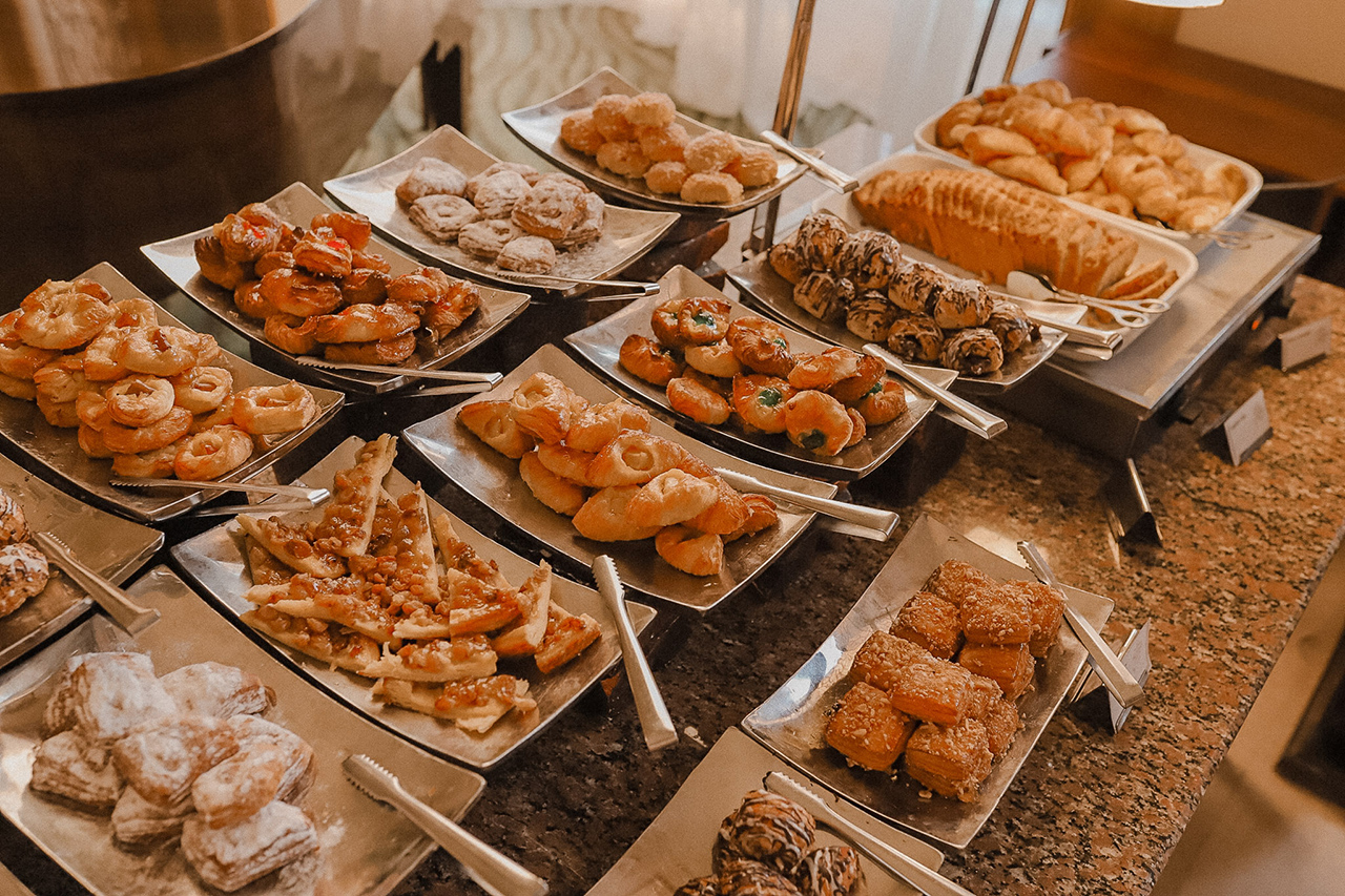 Pastries during buffet at Palace Port Ghalib, Marsa Alam